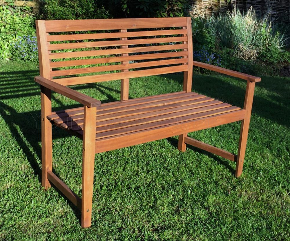Malmo 2 Seat Hardwood Garden Bench 1 2 Price Sale Now On
